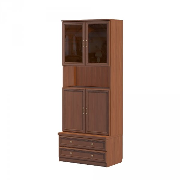 Cabinet with an upper niche and two drawers